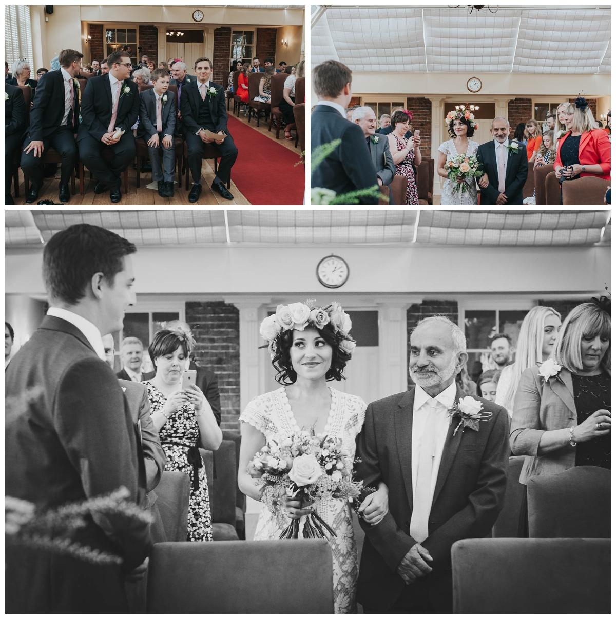 Wedding Ceremony Hadley Park Hotel Shropshire