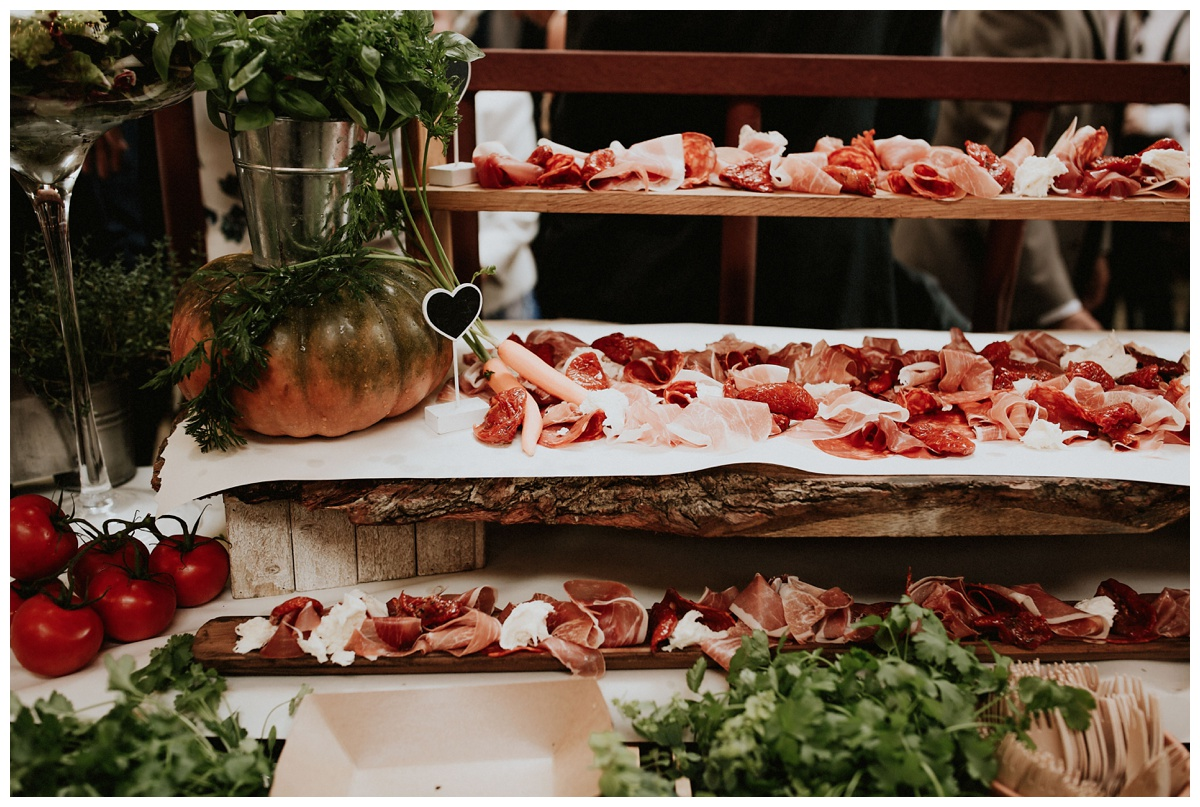 Wedding buffet by Lauren Scotti Photography
