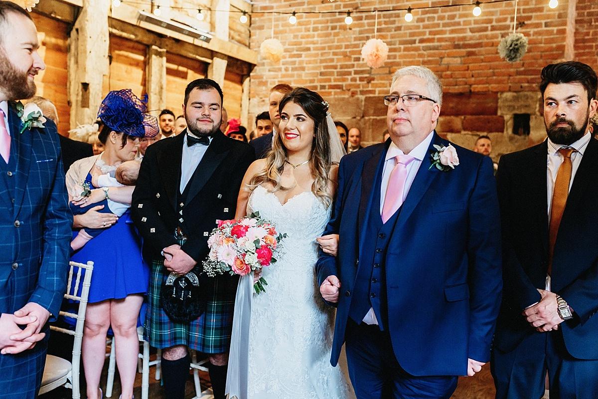 Wedding ceremony at Pim Hill Barn