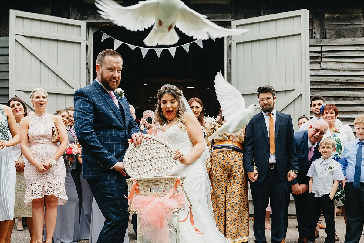 Dove release at wedding
