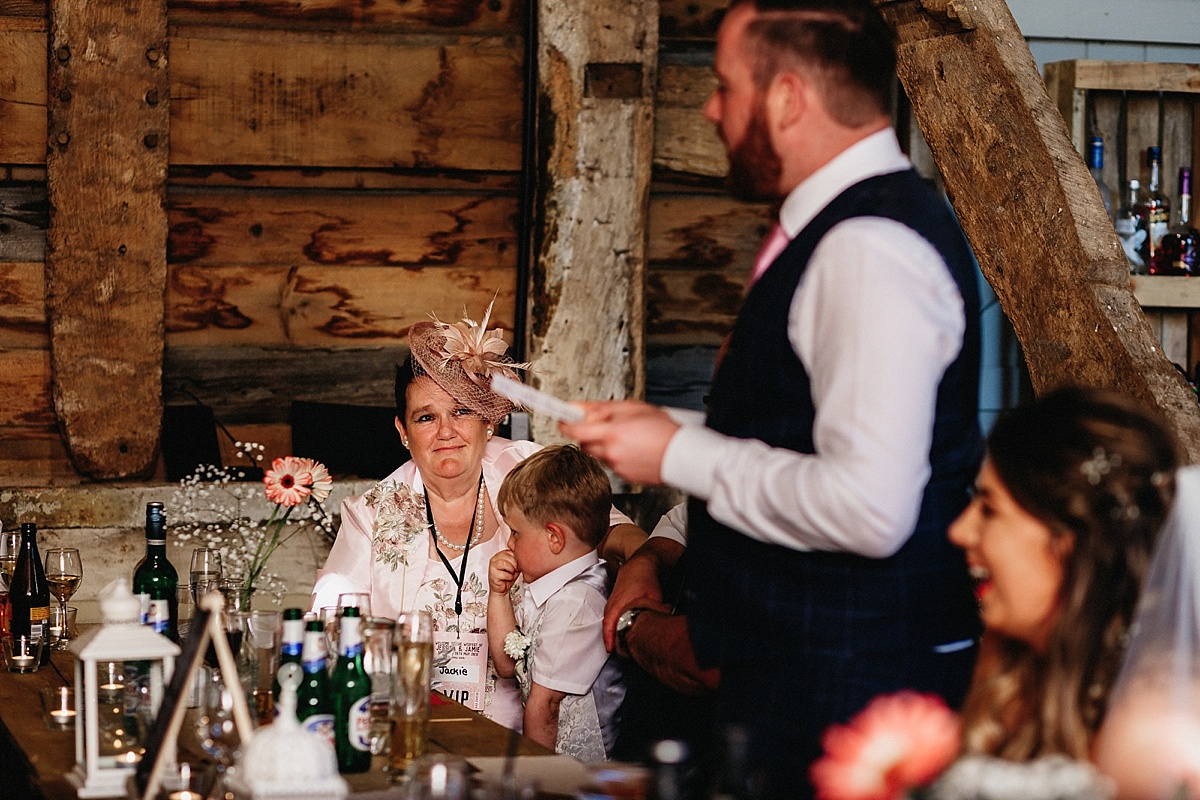 Groom speech at Pim Hill Barn