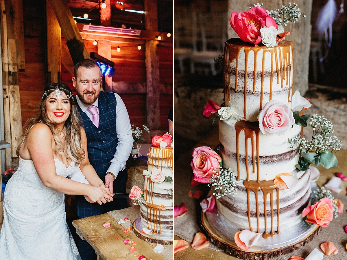 Sophia's sweet treats naked wedding cake