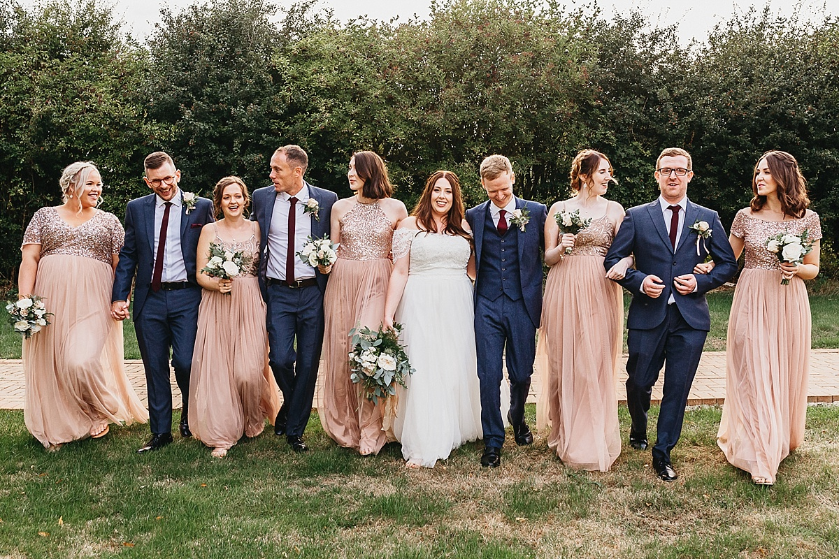 Bridal party at Dovecote Events